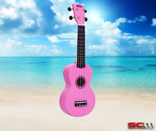 Folk & World Mahalo Rainbow Series Soprano Ukulele Mr1-pk Pink Finish Aquila Strings Gig Bag High Standard In Quality And Hygiene