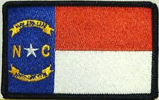 NORTH CAROLINA FLAG PATCH  IRON-ON  Military PatchBlack Border #11
