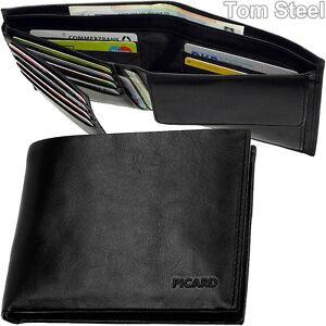 Picard Toscana Wallet with MONEY CLIP Portefeuille Black Noir Neuf