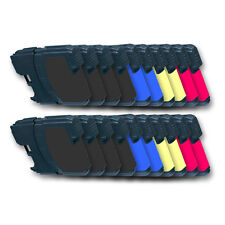 20 Druckerpatronen kompatibel mit BROTHER LC1100BK LC1100C LC1100M LC1100Y