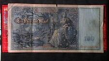 1910 LARGE SIZE 100 MARK NOTE BEAUTIFUL ARTWORK AND COLORS RARE!a!