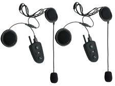 Winston 2X 100M Intercom Bluetooth BT Motorrad Helm Headset HM-528