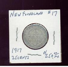 1917 Newfoundland # 17 25 cents Quarter