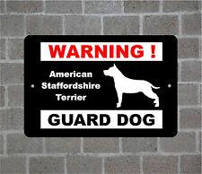 American Staffordshire Terrier warning GUARD DOG breed metal aluminum sign