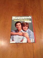 Newsweek Magazine The Royal Wedding August 3 1981 Diana and Charles Wedding Week