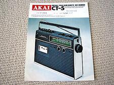 Akai CT-5 portable radio cassette recorder brochure