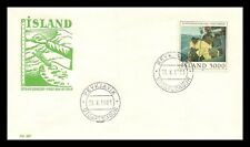 Iceland 1981 FDC, Painting. Hauling the Line. Lot # 2.