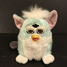 New Listing1999 Furby Babies Baby Blue White Mane Brown Eyes - See Video