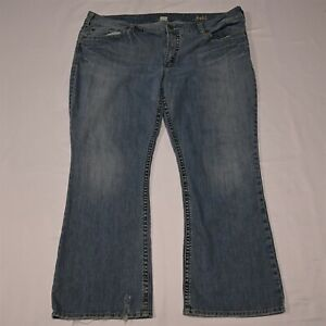 Silver 22 x 30 Plus Suki Bootcut Light Wash Stretch Denim Jeans