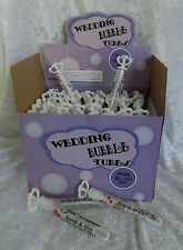 Wedding Bubbles Tubes with Bubble Liquid and  Personalised Labels x 48