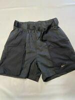 Womens NIKE NSW Black Swoosh Woven Shorts Sz S