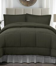 Forest Green King Size Jersey Comforter & Pillow Sham Bed 3-Pc Set