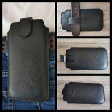 ASSEM Apple iPhone 12 mini echt leder Gürteltasche Tasche Hülle Etui case cover