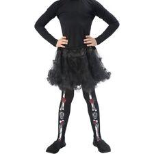 Noir jour de the Dead filles Collant squelette thème Accessoire déguisement