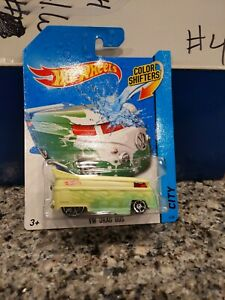 Hot Wheels VW Drag Bus Color Shifters Changer Volkswagen Green/White 2013 CITY