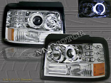 92-96 FORD BRONCO F-150 / 250 / 350 PROJECTOR HEADLIGHTS CHROME LED HALO