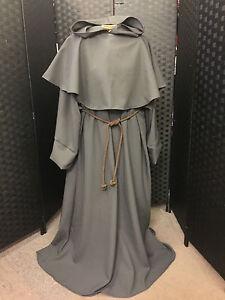 Mönch Robe aus Polyester Farbauswahl Kostüm Halloween