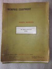 1973 vintage Memphis Equipment Company Parts Manual M Series 5 ton 6x6 G744