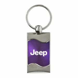 Jeep Key Ring Purple Wave Keychain
