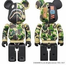 Medicom Toy Be@rbrick Bearbrick BAPE CAMO SHARK Green Alloyed200% Figure WGM ape