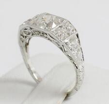 Vintage Old European Cut Diamond Platinum Ring