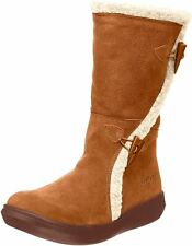 Rocket Dog Slope Chestnut Womens Suede Mid Calf Boots