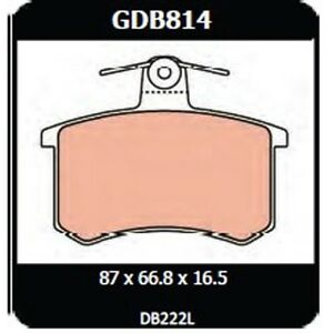 Audi 100 2.5 Tdi 1991 onwards TRW Rear Disc Brake Pads GDB814 DB222