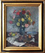 Impressionistic Flowers Early 20th Century Oil Painting by Carl Schmitz-Pleis