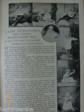 Lady Photographer Miss Alice Hughes Camera Rae Old Victorian Photo Article 1899