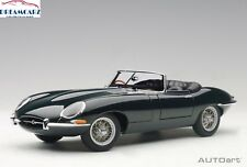 AUTOart 73604 1:18 Jaguar E-Type Roadster 3.8, Series1, Green, metal wire wheels
