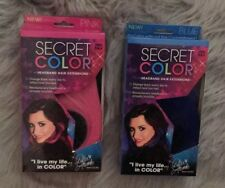 Secret Color Headband Hair Extensions Demi Lavato PINK And BLUE