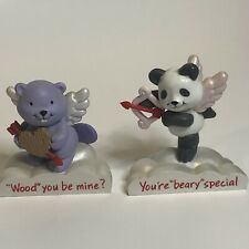 Avon Cloud Nine Cupid Panda, & Beaver Valentine Figurines