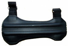 Cartel Hunter PU Leather Short Archery Armguard Arm Guard Reinforced Black Tough