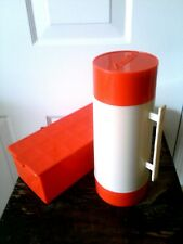 Vintage Aladdin Thermos HY-LO & Sandwich Loaf Container Picnic Box Red