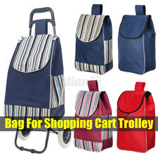 Shopping Cart Carts Trolley Canvas Bag Market Pull Luggage Portable Basket  Sho