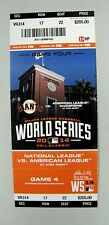2014 GIANTS ROYALS WORLD SERIES GAME 4 UNUSED TICKET STUB - AT&T PARK 6000029