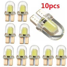 10x White T10 501 W5W COB 8 SMD Silicone LED Car Interior Side Number Tail Light