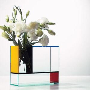 Mondri Vase Acrylic Piet Mondrian Art Multicoloured PO: Selected Genuine New