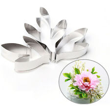 Fondant Cake Decoration Stainless Steel Tools Peony Flower Leaves Cutters Set X5