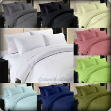 1000 Thread Count Bed Sheet Set- Luxury 100% Cotton Solid Sheet Sets