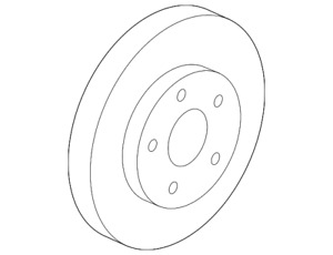 Genuine GM Disc Brake Rotor 19303825