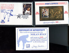 1995 SSCA St. Vincent And The Grenadines Gold Stamp Nolan Ryan Express &