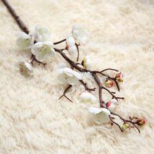 Seda Artificial Falso Flores Plum Blossom Boda Ramo Floral Fiesta Decoración
