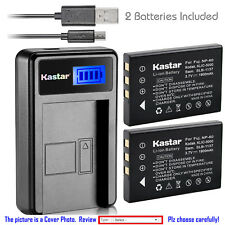 Kastar Battery LCD Charger for NP-60 & Digimaster V6 Two-ways Radio Vizio DC630C