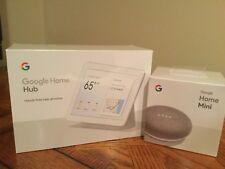 Google Home Hub Smart Display BUNDLE w/ FREE Mini   Chalk Grey SEALED NEW