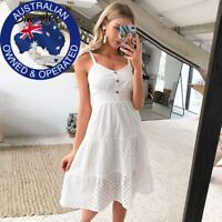 Casual Lavender,White Summer Embroided Bow-Knot Thin Strap Midi Beach Dress
