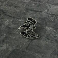Plague doctor mask Soft enamel Pin Badge Black Bird head Mask Brooch Weird Punk