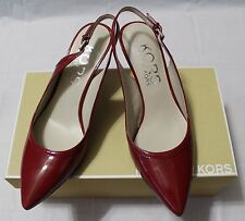 MICHAEL KORS HILLSTON CINNABAR  ANKLE STRAP SHOES 6.5M