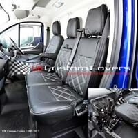 FORD TRANSIT CUSTOM - LEATHERETTE FRONT SEAT COVERS 2017 ON 237