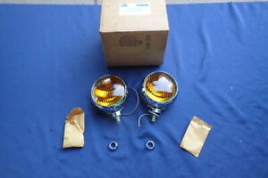 1965-68 Ford, Mercury accessory fog lights, pair, NOS! Galaxie, Mustang Fairlane